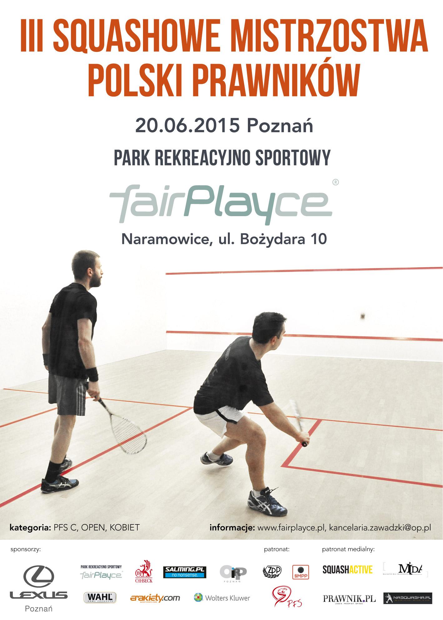 Plakat - III Squashowe Mistrzostwa Polski Prawników