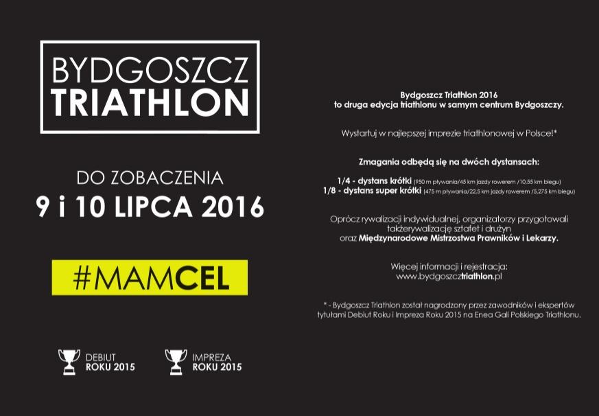 Bydgoszcz Triathlon A6 przod