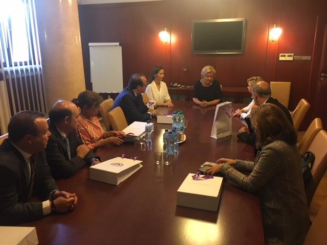 Spotkanie zPrezes Sądu Okręgowego wWarszawie SSO Joanną Bitner