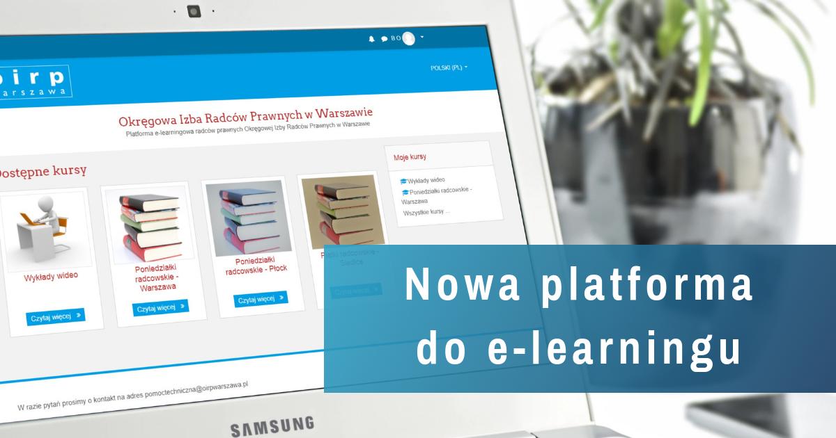 Nowa platforma e-learningowa już dostępna!