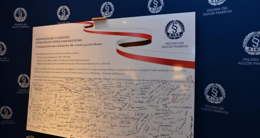 Nadzwyczajny Krajowy Zjazd Radców Prawnych 10.11.2018 r.