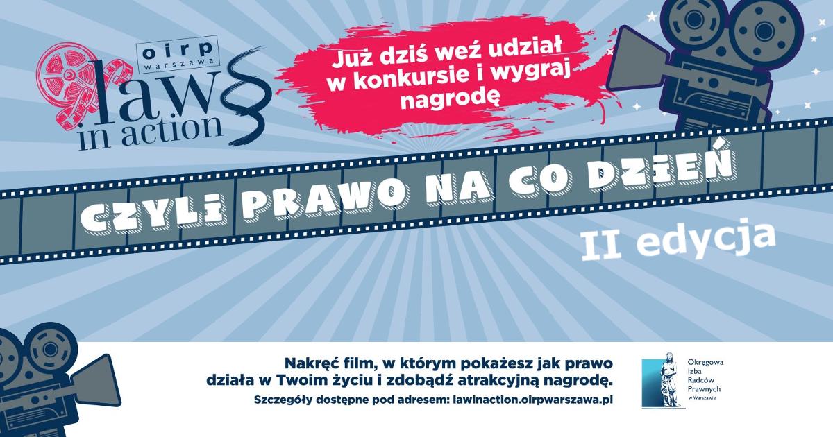 """OIRP w Warszawie ogłasza II edycję Konkursu dla dzieci i młodzieży """"Law in action – czyli prawo na co dzień"""""""