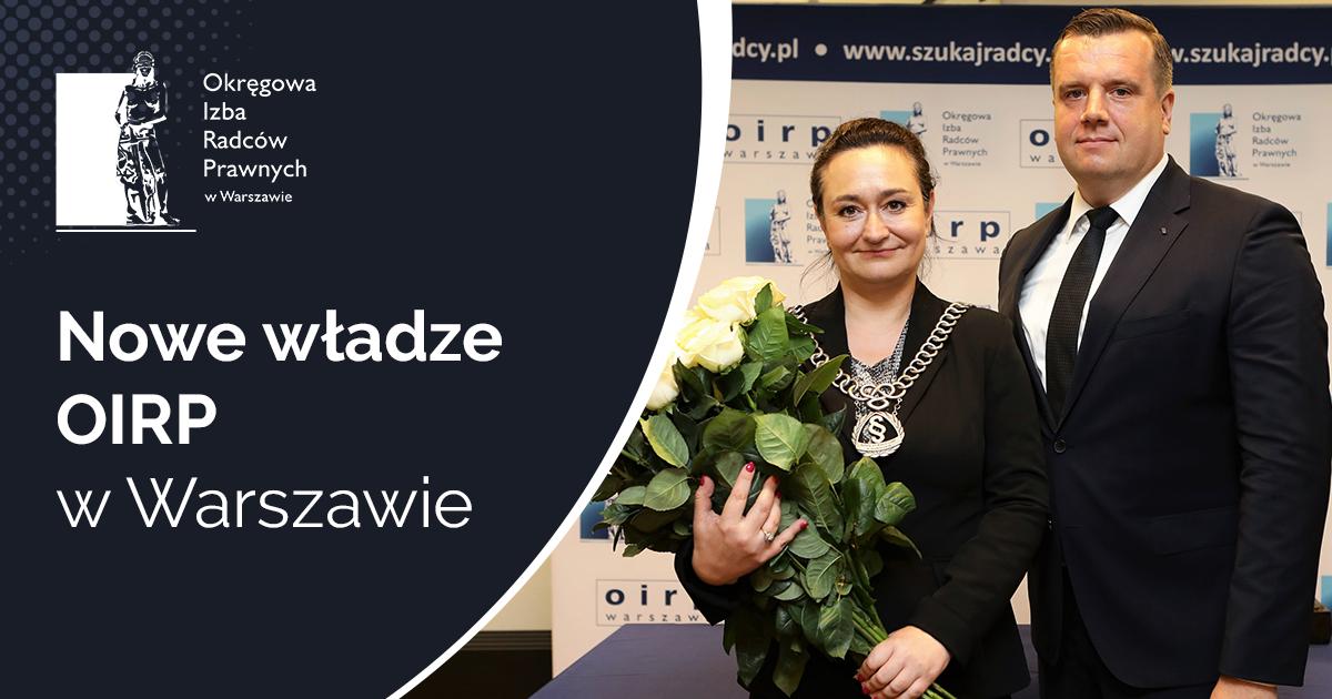 Nowe władze OIRP w Warszawie – XI kadencja  Izby warszawskiej
