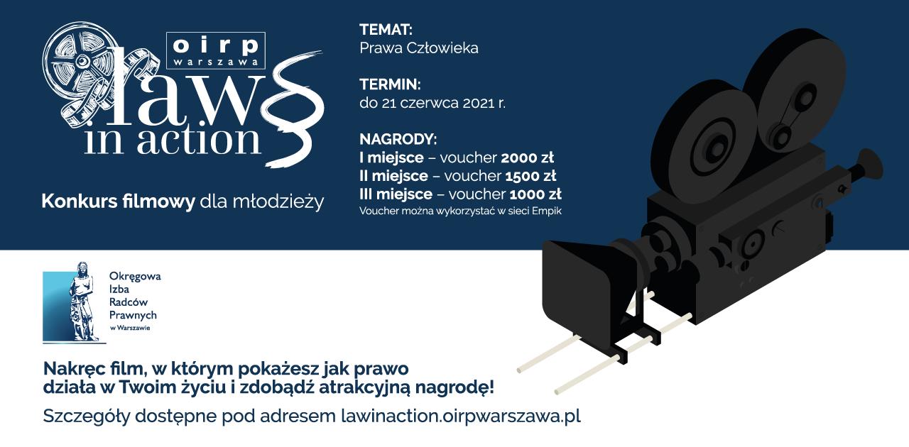 """IV edycja konkursu dla dzieci i młodzieży """"LAW IN ACTION, CZYLI PRAWO NA CO DZIEŃ"""""""